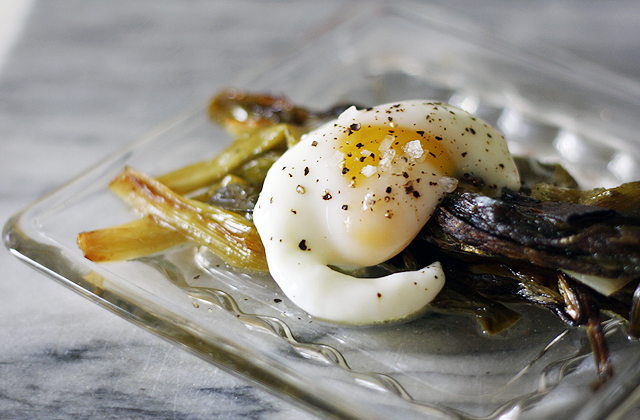 braised-scallions-with-poached-egg