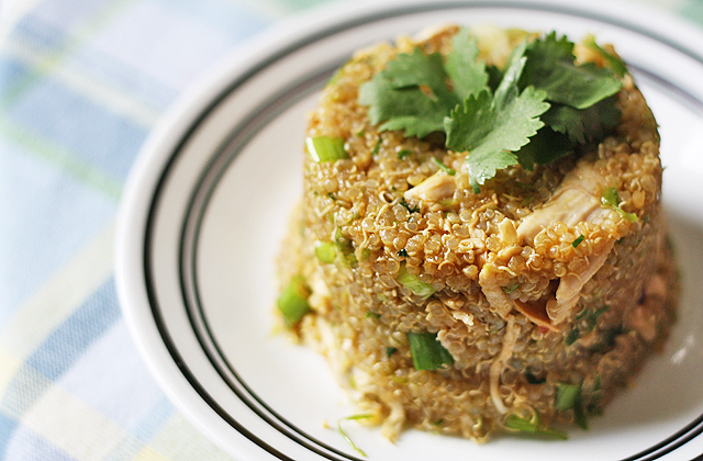 scallion sesame quinoa